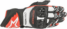 Alpinestars GP PRO R3 Leather Road Racing Gloves (Black/White/Bright Red) Large