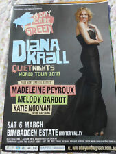 DIANA KRALL  A DAY ON THE GREEN 2010 BEAUTIFUL AUSTRALIAN  TOUR POSTER  MINT
