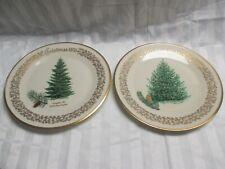 2 Lenox Christmas Collector Plates- 1976 Douglas Fir and 1979 Balsam Fir