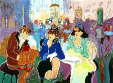 """""""COFFEEHOUSE"""" Rare Serigraph in 42 Colors S/N By Israeli Artist Zule Moscowitz"""