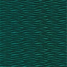 Architex Allure Wow Quilted Modern wave Metallic Blue Vinyl Upholstery Fabric