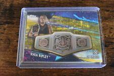 2020 Topps WWE Women's Division RHEA RIPLEY Gold Belt Plate Relic #07/10