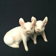 Vintage Gobel Pair Sitting Pigs Piglets Porcelain Germay 32008 - Tmk-5, Germany