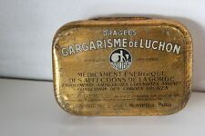 SCATOLA FRANCESE D'EPOCA IN LATTA  GARGARISME DE LUCHON VINTAGE TIN BOX