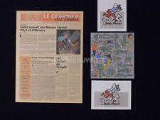 LOT HERGE TINTIN Prospectus Decalcomanie Cartes (424)
