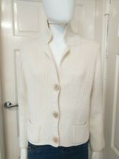 Marella Cream Wool Blend Chunky Cardigan Size Large