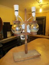 "Laboratory test equipment up-cycled lighting double 19"" Tall x 10"" x 6"" deep"