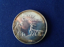 1982 SilverTowne Merry Christmas Happy New Year Silver Art Medal P2198