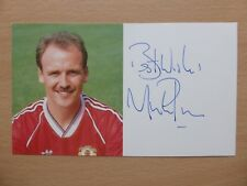 1988-90 Mike Phelan signed on Utd Official Club Card (12867)