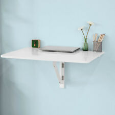 SoBuy Mesa plegable de pared Mesa de escritorio Mesa auxiliar 80x60cm FWT02-W,ES