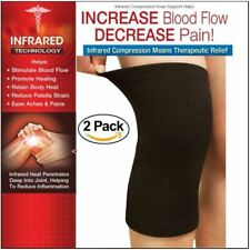 FDA APPROVED: 2-Pack Knee Brace Elastic Sleeve Compression Wrap Joint Support