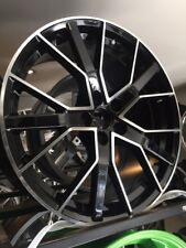 "20"" x 4 rs6 d black pol alloy wheels audi a5/a6/s5/a7/q5/q3/ with tyres"