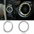 4X Car Bling Decorative Accessories Button Start Switch Silver Diamond 3cm Ring