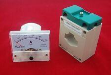 1PC AC 500A Analog Ammeter Panel AMP Current Meter 85L1 56*64mm with transformer