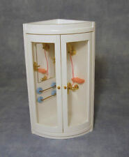 Shower With Fitted Mirror, Dolls House Miniature Bathroom Furniture Fitting