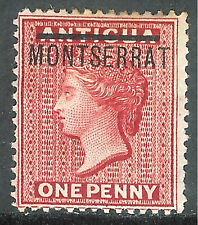 Montserrat 1876 red 1d crown CC mint SG1
