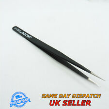 Stainless Steel Anti-Static Tweezers ESD11 Straight Supper Fine Tip Precise