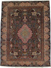 One of Kind Semi Antique Vintage Floral 10X13 Hand Knotted Oriental Rug Carpet