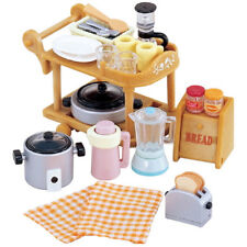 Sylvanian Families Calico Critters Furniture Kitchen Cookware & Trolley Set