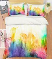 3D Color Watercolor ZHUA204 Bed Pillowcases Quilt Duvet Cover Set Queen King Zoe