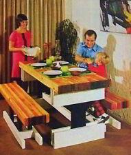 Butcher Block Dining Table How-To build PLANS EZ 2x4 construction