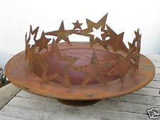 Edelrost Sterne ohne Schale Advent Dekoration für Schale Tisch Garten Terrasse
