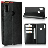 Luxury Genuine Leather Flip Wallet Stand Case Cover For Xiaomi Redmi Note 5 Pro