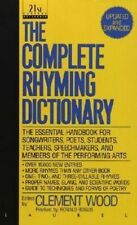 NEW Complete Rhyming Dictionary By Clement Wood Paperback Free Shipping
