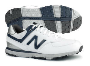 New Balance NBG574WN SL Golf Shoes White/Navy Men's 2018 New - Available in Wide