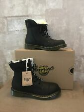 dr martens black boots size 5.5