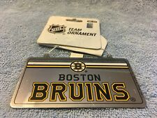 Nhl Boston Bruins License Plate Ornaments by Forever Collectibles New