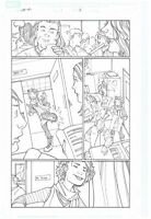 ORIGINAL ART PAGE OF THE WASP BY CRAIG ROUSSEAU HER-OES #1 PAGE #18