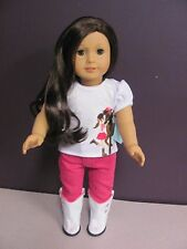 """American Girl or 18"""" Doll Horseback Riding Outfit, CLOTHES, Top/Pant/ Boots New"""