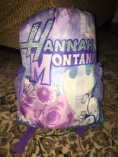 Vintage DISNEY HANNAH MONTANA SLEEPING BAG WITH Backpack BAG Perfect Condition