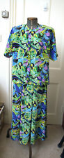 True Vintage Blouse And Matching Skirt in Abstract Bold Design 80s Fab Condition