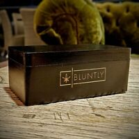 Bluntly Stealth Mini Stash Handmade Wooden Box Tobacco Herbal Storage Case