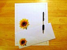 Sunflower Stationery Writing Set With Envelopes - Lined Stationary