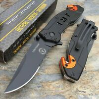 Tac Force Spring Assisted EMT EMS Emergency Rescue Tactical Pocket Cutter Knife