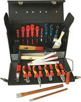 NWS Elektriker-Werkzeugkoffer, 23-teiliger Lehrlingskoffer aus Rindsleder