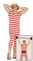 Mens 1920s Bather Strongman Fancy Dress Costume Circus Act Showman Entertainer