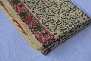 Print_1220 Cotton Fabric Women Dress Fabric Material Indian Hand-Block 50 Yard