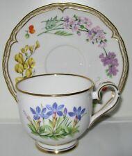Royal Worcester Sandringham Gold Floral Border Center Cup(s) and Saucer(s)