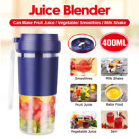 400ML Portable Electric Juice Shaker Blender USB Fruit Mixer Juicer Maker