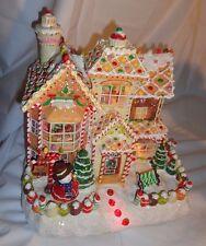 Sams Christmas Gingerbread House Fiber Optic Decoration HTF Retired Battery 2005