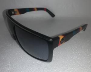 Dragon Sunglasses FAME Light Bright-Black Multicolor Frame w/ Silver Mirror Lens
