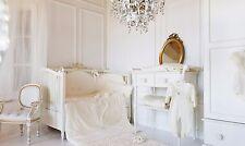 Baby girl white princess Luxury Cot Crib Nursery Bedding set Jasmina 5 Pieces