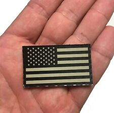 MINI 2x1 Forward Black and Tan Us Ir Infrared Reflective USA Flag Military Patch