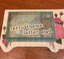 Retro theme letter pad Old Television Scene Mcm Scratch Pad