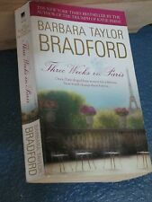 Three Weeks in Paris by Barbara Taylor Bradford romance paperback 0440237300