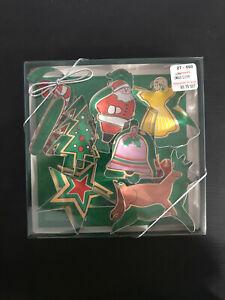 Fox Run Candy Cane Santa Angel Tree Star Bell Reindeer Metal Cookie Cutter Set